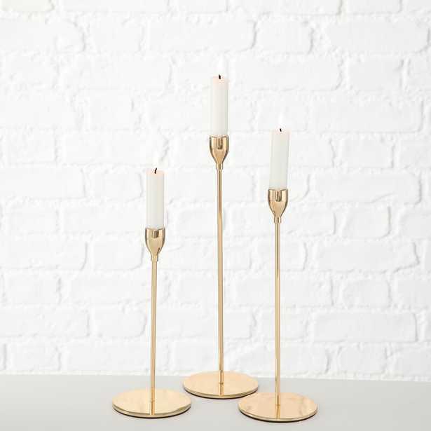 Tulip Top 3 Piece Metal Candlestick Set (Set of 3) - Wayfair