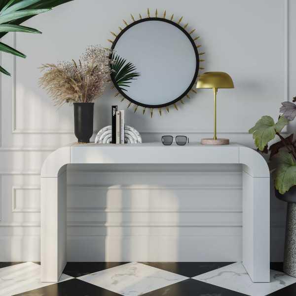 Hump White Console Table - Maren Home