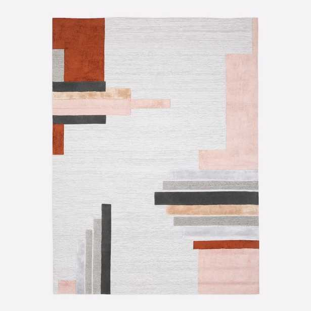 Deco Facade Rug, Rosette, 8'x10' - West Elm