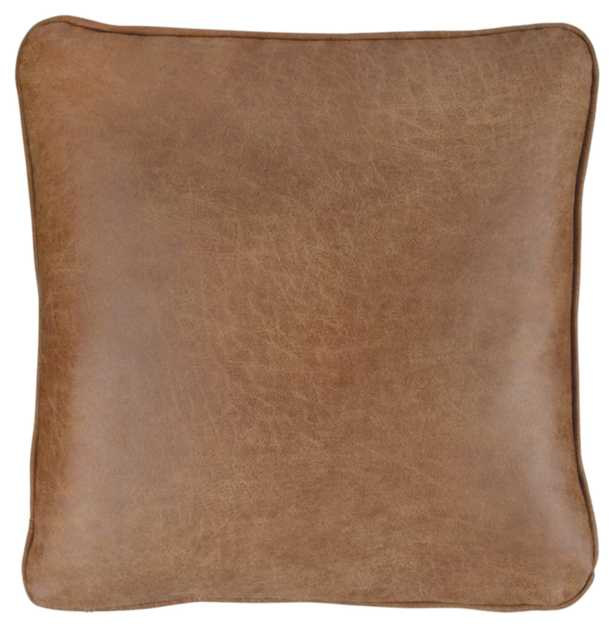 Desoto Square Faux Leather Pillow Cover and Insert RESTOCK IN APR 7,2021. - Wayfair
