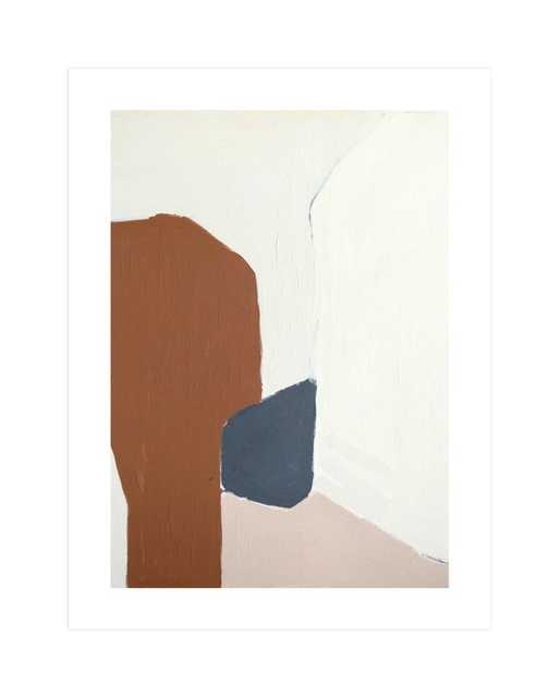 Terrazzo Art Print with white border - Minted