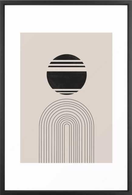 "Balance IV, ARCH Framed Art Print - Vector Black Frame - 20 x 26"" - Society6"
