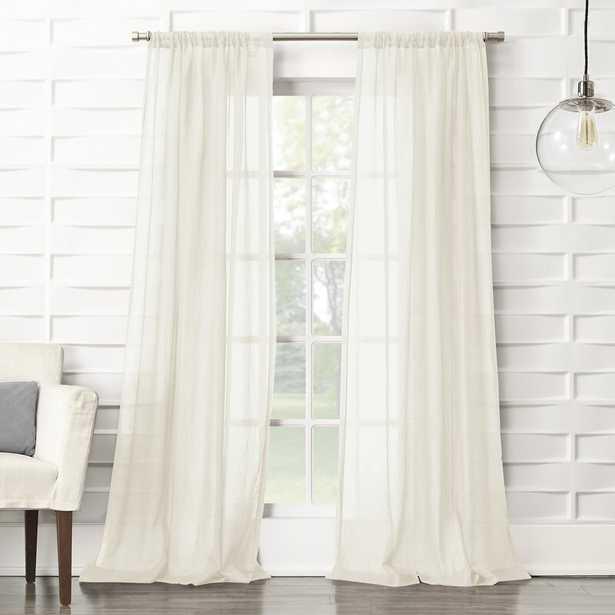 Brooker Solid Sheer Rod Pocket Single Curtain Panel - Wayfair