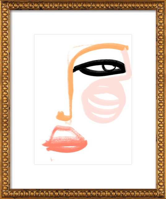 optimama - 16x20 - gold crackle bead wood frame with matte - Artfully Walls