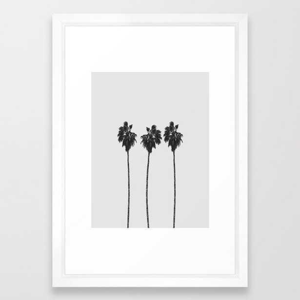 """Palm Trees Framed Art Print, 15"""" x 21"""", Vector white frame - Society6"""