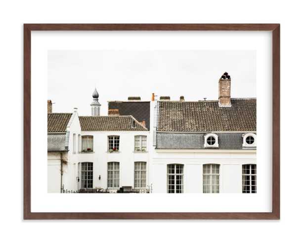 ghent, 24x18, white border, walnut wood frame - Minted