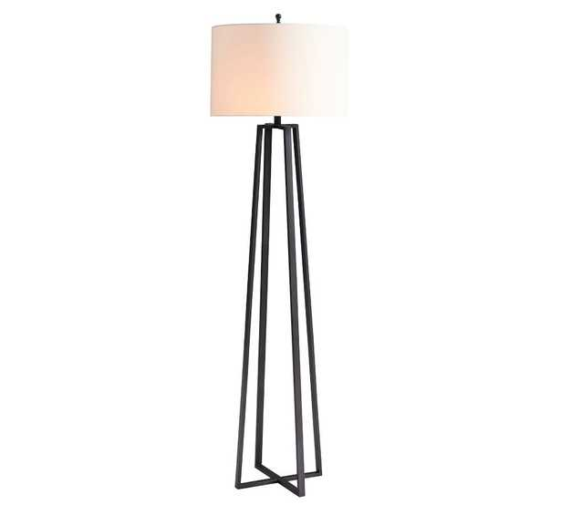 Carter Floor Lamp, Bronze with Ivory Shade - Pottery Barn