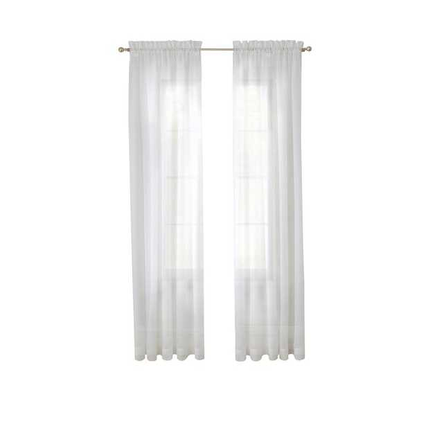 Wayfair Basics Solid Sheer Rod Pocket Curtain Panels (Set of 2) - Wayfair