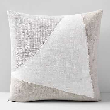 """Amplified Arrow Pillow Cover, 24""""x24"""", Frost Gray - West Elm"""