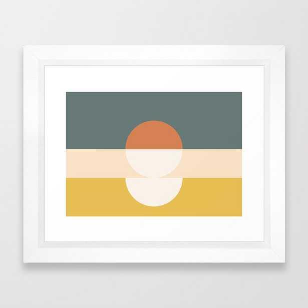 "Abstract 02 Framed Art Print - 10"" x 12"", vector white - Society6"