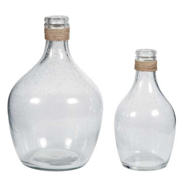 Eowyn Clear Glass Table Vases, Set of 2 - Wayfair