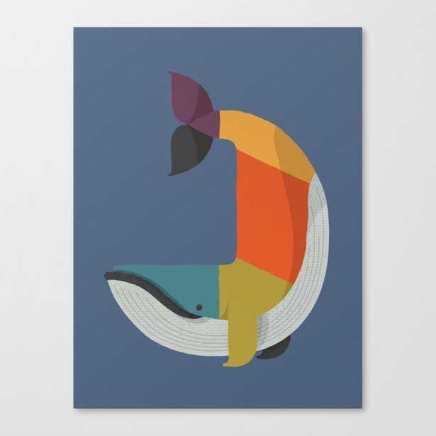 Blue Whale Canvas Print - Society6