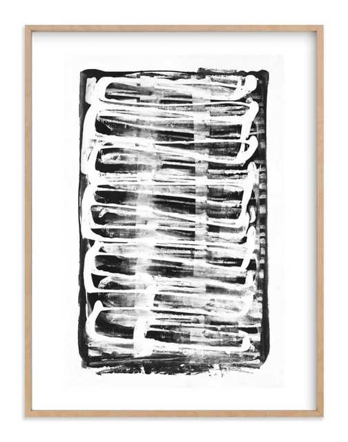 Test Pattern - 30x40 - natural raw wood frame - white border - Minted