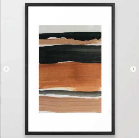 abstract minimal 12 Framed Art Print - Society6