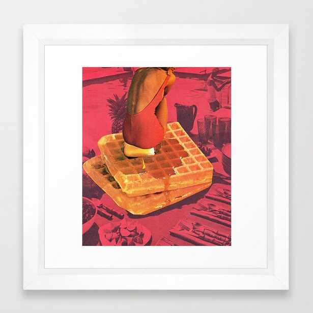 """WAFFLE Framed Art Print - 12"""" x 12"""" - Society6"""