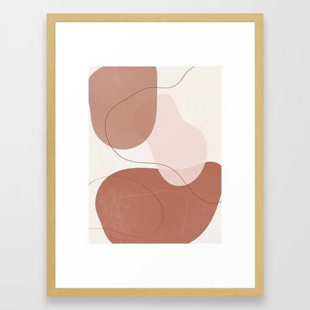 Abstract Shapes 1 Burnt Orange Framed Art Print - Society6