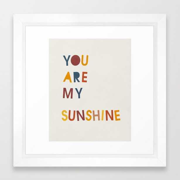 You are my sunshine, Mid century modern kids wall art, Nursery room Framed Art Print - Society6