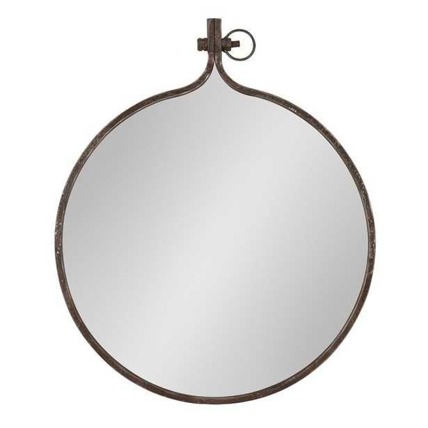Kinley Round Metal Framed Wall Mirror - Wayfair