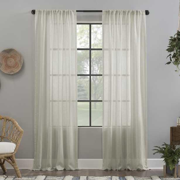 Crushed Texture Anti-Dust Sheer Curtain Panel - Wayfair