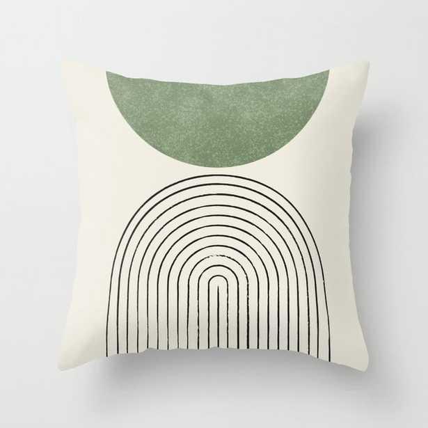 "Arch balance green 18"" Throw Pillow - Society6"