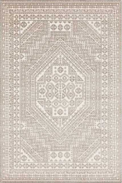 """Esta Indoor/Outdoor Rug, Ivory and White 7'10"""" x 10'10"""" - Lulu and Georgia"""