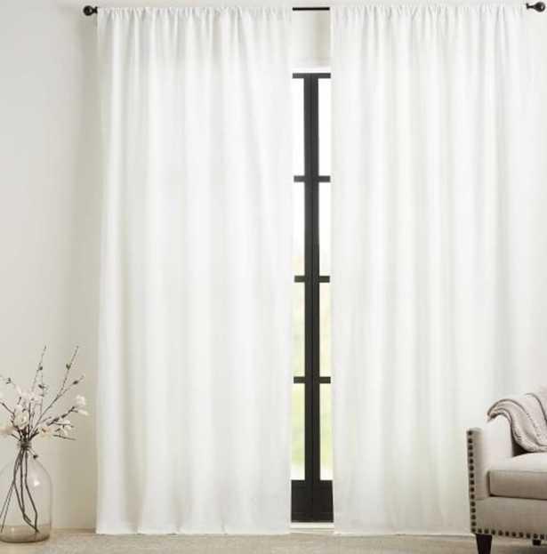 "Custom Classic Belgian Linen Curtain - White  (150"" x  100"") - Pottery Barn"