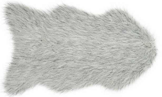 Faux Fur Rug - RB-01 IVORY / SILVER - Loma Threads