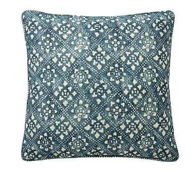 "Leada Print Pillow Cover, Blue Multi, 20"" - Pottery Barn"