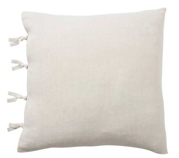 Belgian Flax Linen with Ties Sham, Euro, Flax - Pottery Barn