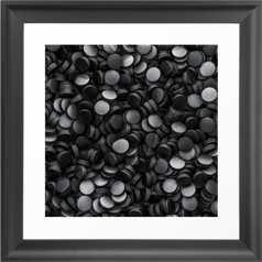 Hockey pucks Framed Art Print-m black scoop 12x12 - Society6