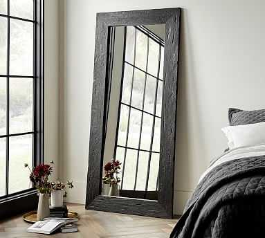 "Bozeman Floor Mirror, Wood, 38"" x 82"" x 1.5"" - Pottery Barn"