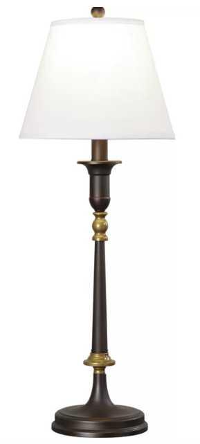 """Lockerbie Laken 33"""" Buffet Lamp - Wayfair"""