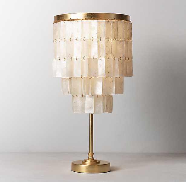 SKYE TABLE LAMP - ANTIQUED GOLD - RH Teen