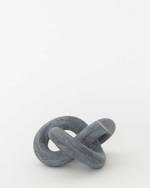 MARBLE KNOT OBJECT - charcoal - McGee & Co.