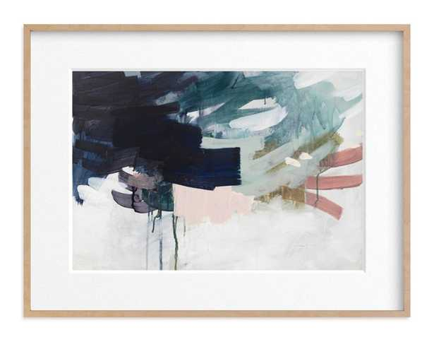 Following the Pack - 40x30 - Natural Raw Wood Frame - Matted - Minted