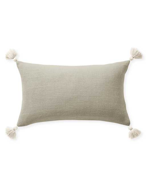 """Eva Tassel 12"""" x 21"""" Pillow Cover - Flax - Insert sold separately - Serena and Lily"""