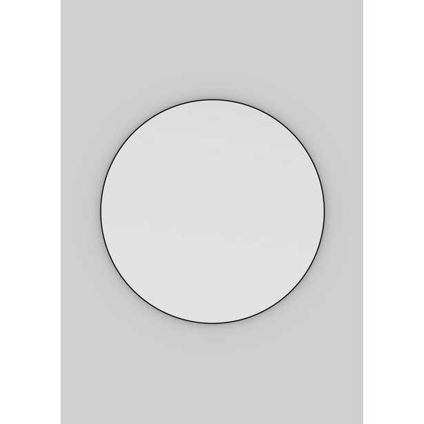36 in. x 36 in. Round Black Stainless Steel Framed Mirror - Home Depot