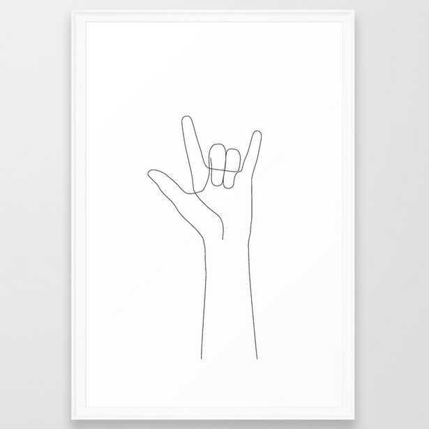 Love Hand Gesture Framed Art Print - Society6
