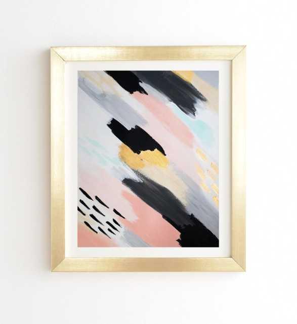 "ONE WAY - Gold Framed Wall Art - 19""x22"" - Wander Print Co."