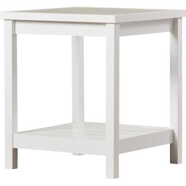 Hampton End Table / Soft White - Wayfair