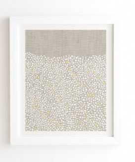 """Pebbles Framed Artwork - 11""""x13"""" - White Frame - Wander Print Co."""