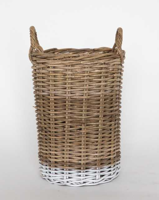 DIPPED RATTAN BASKET - SMALL - McGee & Co.