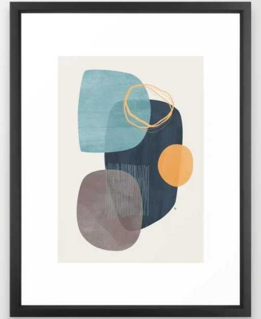 "Cyra Framed Art Print, Vector Black Frame, 15"" x 21"" - Society6"