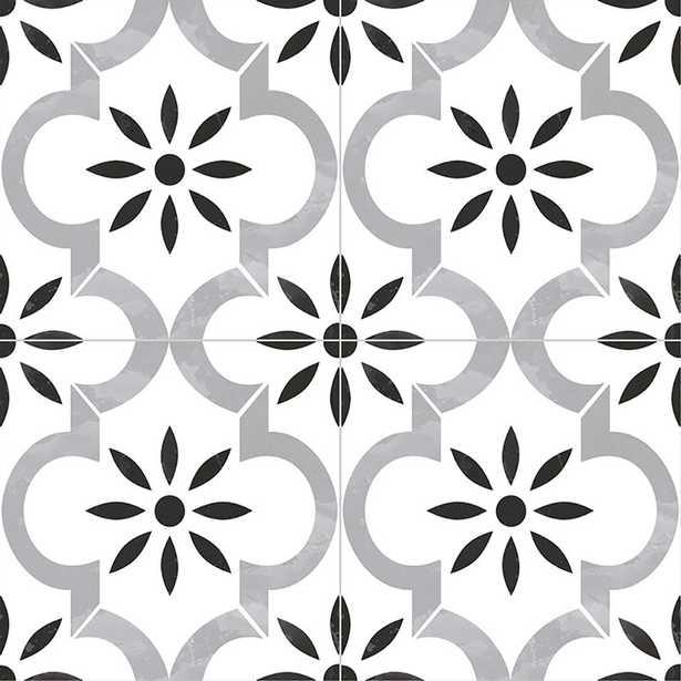 """Kenzzi 8"""" x 8"""" Porcelain Field Tile in Azila - Wayfair"""