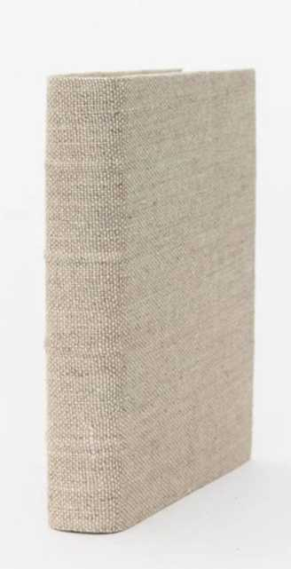 HANDCRAFTED LINEN BOOK- SMALL - McGee & Co.