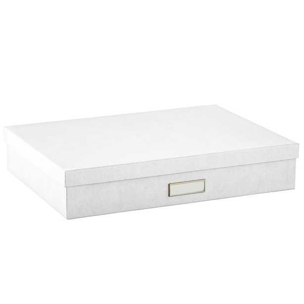 Bigso White Stockholm Office Storage Boxes - containerstore.com