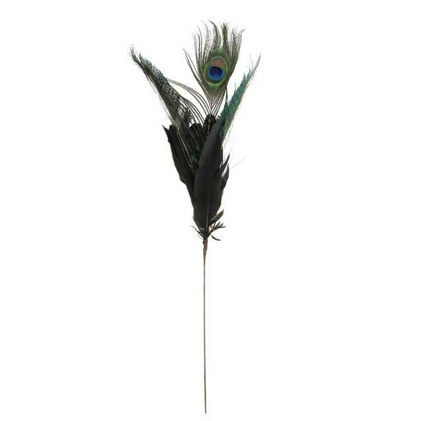 Christmas Peacock Feather Pick - Wayfair