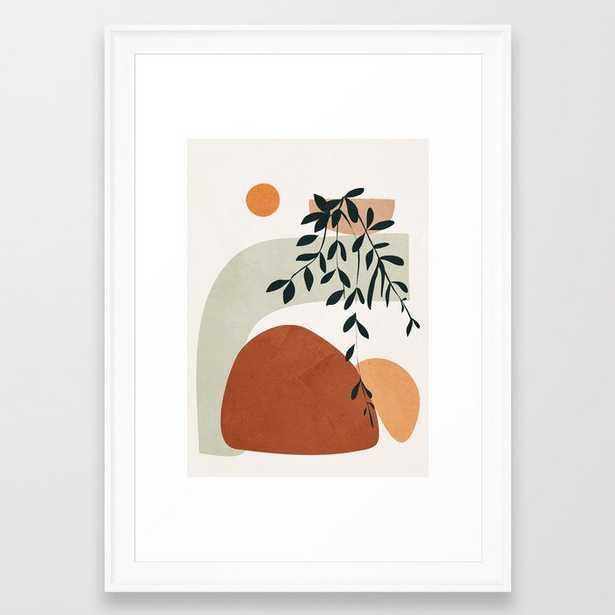 Soft Shapes I Framed Art Print, scoop white frame  15x21 - Society6