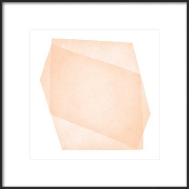 """Pale Peach Structure: Soft Geometry, 20"""" x 20"""" - Artfully Walls"""