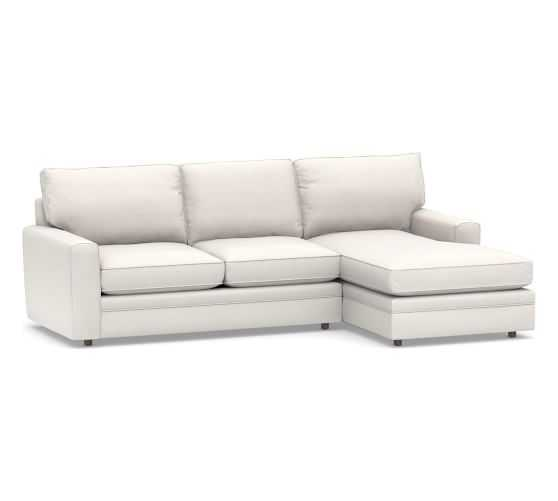 Pearce Square Arm Upholstered Sofa with Chaise Sectional - Pottery Barn